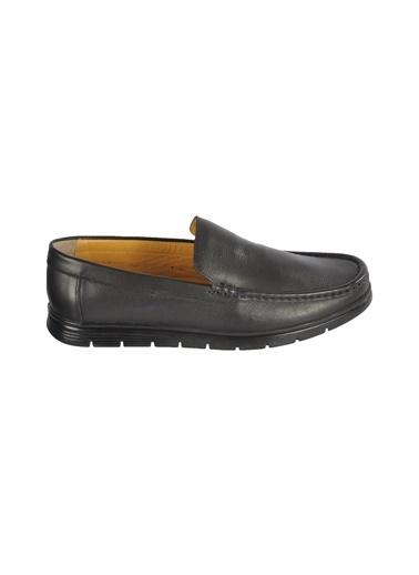 Ayakmod 024 Siyah Erkek Hakiki Deri Günlük Ayakkabı Siyah